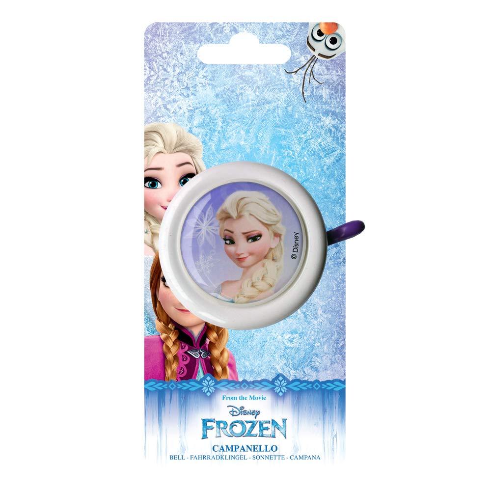 Timbre de Metal Ni/ña Talla /única Color Blanco Disney Frozen