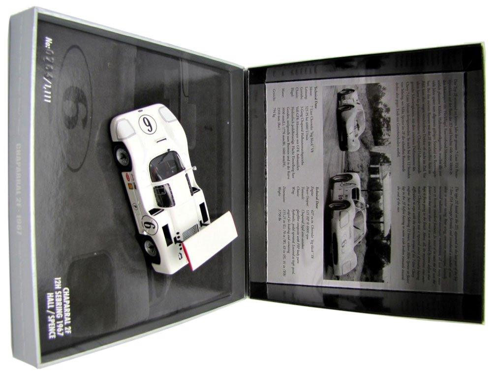 Barato Minichamps - CHAPARRAL 2F 12H SEBRING'67, (Hall/Spence)
