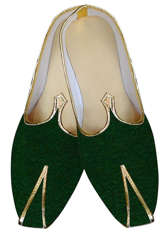 INMONARCH Hombres Green Boda Zapatos Diseñador MJ014717 39 EU
