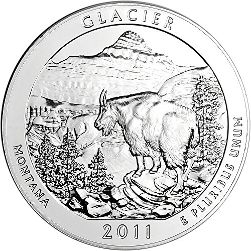 2011 ATB Silver (5 oz) Glacier Quarter Brilliant Uncirculated US Mint