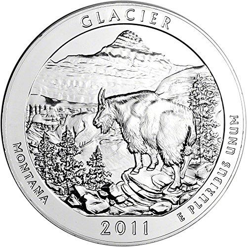 2011 ATB Silver (5 oz) Glacier Quarter Brilliant Uncirculated US Mint