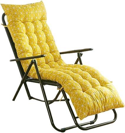 Coussin De Chaise Longue Longue Galette De Chaise Coussin Lounge Coussin pour Chaise Fauteuil De Jardin 48x155x8cm(sans Chaise)
