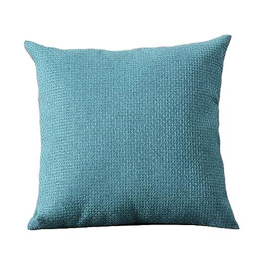 Amazon.com: Cojines de lino simple, cojín para salón, sofá ...