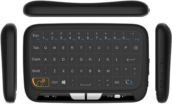H18 2,4 gHz inalámbrico teclado completo Touchpad Remote Control Teclado Ratón modo con gran Touch Pad vibración para Smart TV Android TV Box PC portátil: Amazon.es: Electrónica