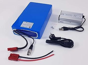 TZIPower - Batería para Bicicleta eléctrica (48 V, 30 Ah ...