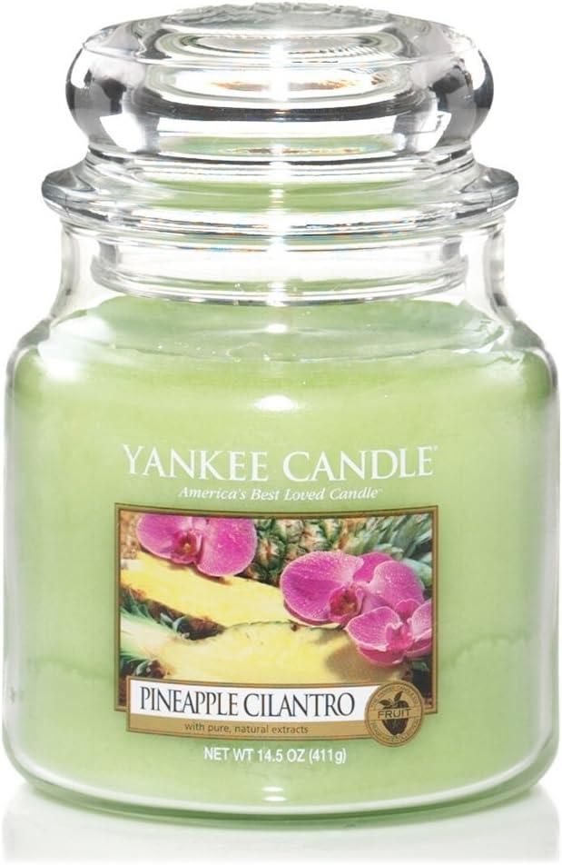 10X9.8X12.4 Cm Yankee Candle 1302659E Lovely Kiku Candele in Giara Media Vetro Porpora