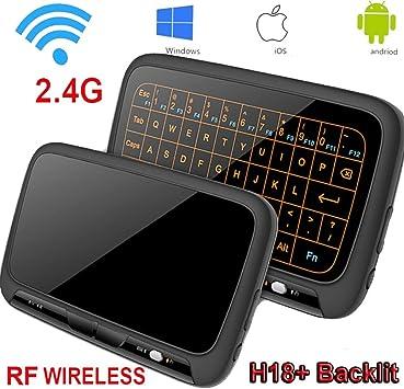 8C147W Item Title: Mini teclado, retroiluminación Wirele Mouse Touchpad y Combo, Super-VIP H18 Panel completo Superficie táctil grande Múltiples gestos de dedos 2.4G Wifi Mini Touchpad para Android TV Box: Amazon.es: Electrónica