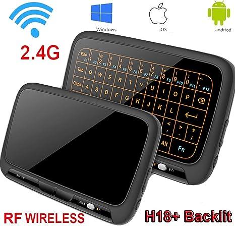 8C147W Item Title: Mini teclado, retroiluminación Wirele Mouse Touchpad y Combo, Super-