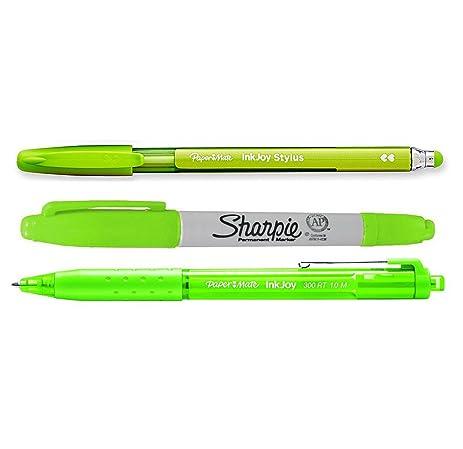 Paper Mate 2-in-1 InkJoy Stylus Pen / lot of 6 BLACK *