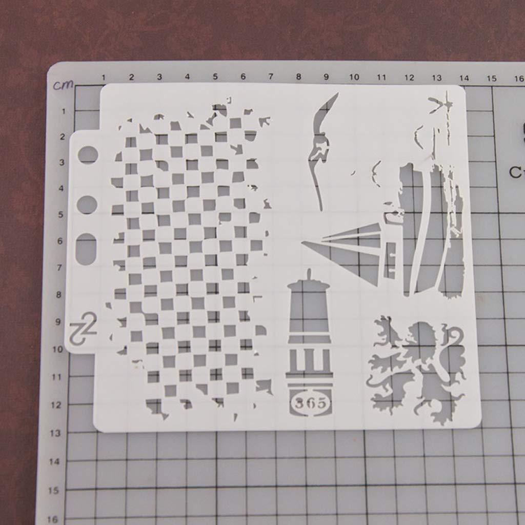 Kalttoy Pochoir Mod/èle Peinture Scrapbooking Gaufrage Estampage Album Carte DIY Bateau