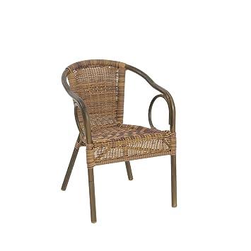 greemotion Chaise de jardin bistrot Laos marron clair - Chaise de ...