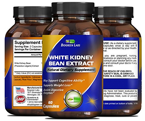 100% Pure White Kidney Bean Extract - Phase 2 Starch Neutral