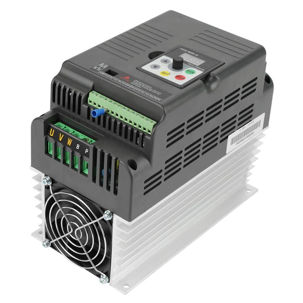 VFD Inverter Single to 3 Phase, 220V Variable Frequency Drive,High Precision,Good Anti-Trip Performance,Speed Controller for 3-Phase 5.5kW AC Motor by Thincol (Image #2)
