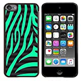 GRECELL CITY GIFT PHONE CASE /// Cellphone Protective Case Hard PC Slim Shell Cover Case for Apple iPod Touch 6 6th Touch6 /// Nature Pattern Zebra Black Stripes