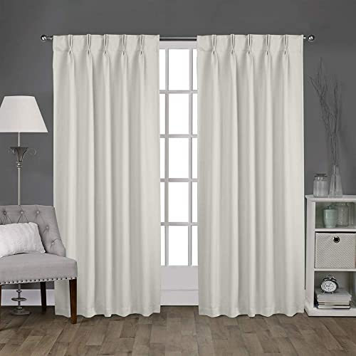 Magic Drapes Home d cor 100 Polyester Double Pinch Pleated Blackout Window Curtain Panel Drapes and Thermal Insulation Light Grey