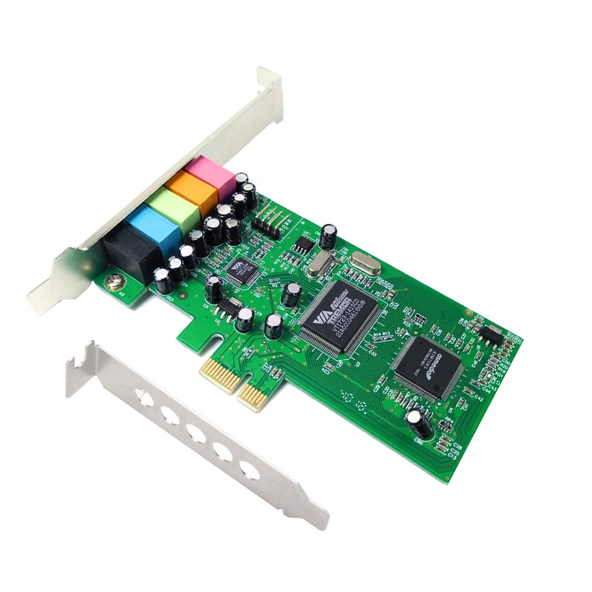 ELIATER PCIe Sound Card for PC Windows 10, 5.1 Sound Card 3D Stereo PCI-e Audio Card with Low Profile Bracket, VIA 1723 Chip 32/64 Bit Sound Card for Windows 7/8/10/XP by ELIATER