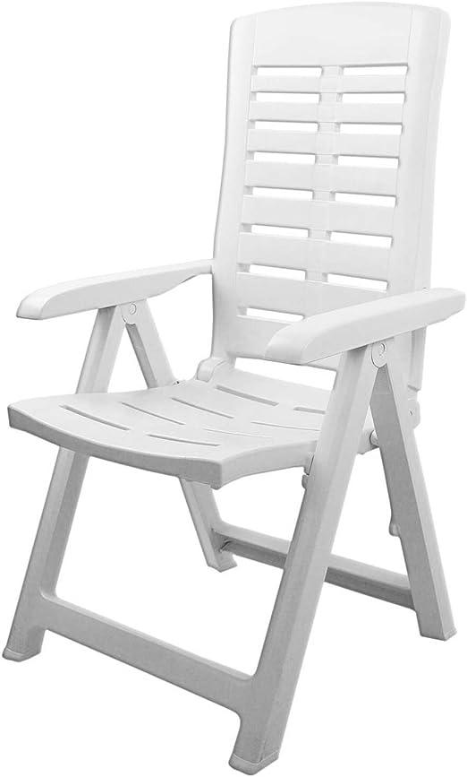 Sedie In Plastica Da Giardino Prezzi.Sedia Da Giardino Comoda A Stabile Pieghevole 5 Posizioni Mobile