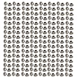 uxcell 500pcs 4.5mm Inner Dia 201 Stainless Steel Eyelet Grommets w Washers for Clothes Leather