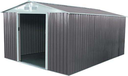 Caseta metálica para jardín Dallas 12, 99 m²: Amazon.es: Jardín