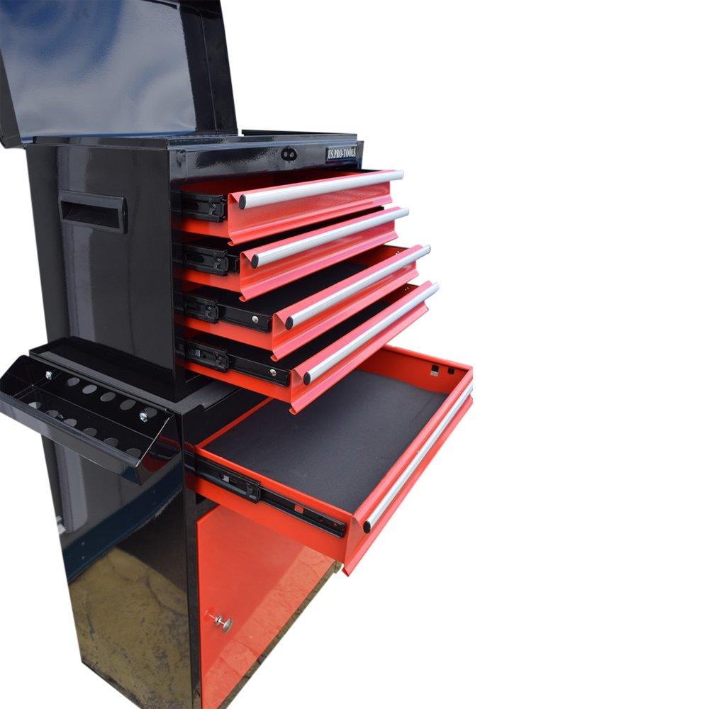 Servante /à outils sur roulettes US Pro Tools rouge et noir