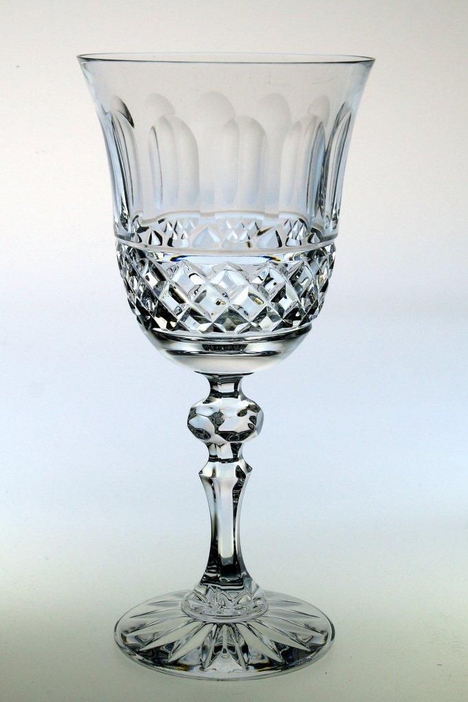 Set 6 Weingläser aus Bleikristall 24% PbO