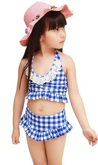 e2539af48d2ba3 (トヨベイ)Toyobuy 可愛い 水着 キッズ 女の子 スクール ワンピース フリル 子供用 セパレートガールズ キャップ