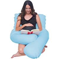 Meiz U Shaped Body Maternity Pregnancy Pillow with Zipper Removable Cover
