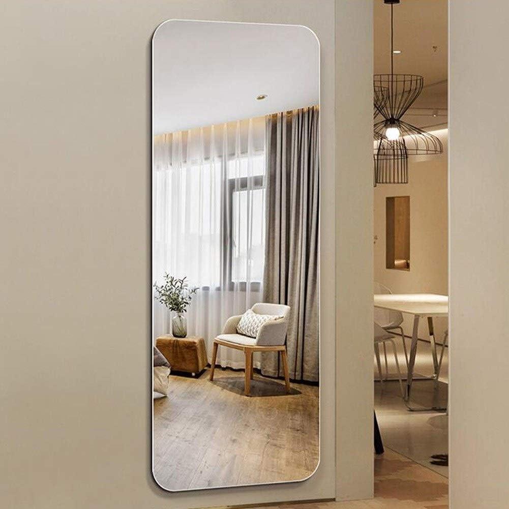 Espejo de vanidad encastrado montado en la Pared del Dormitorio del Espejo Integral sin Marco, Espejo de vanidad, cordón Ondulado el 150 * 50cm Espejo de pie L0624: Amazon.es: Hogar