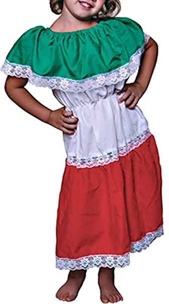 Amazon.com: Disfraz de Patrimonio Mexicano para niñas ...