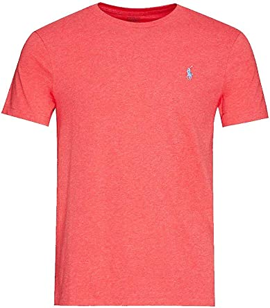 Polo Ralph Lauren camiseta hombre mod. 710-671438 Rojo L: Amazon ...