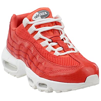 sports shoes 91be8 e2c0f Nike WMNS AIR Max 95 PRM Baskets Femme, Orange Corail Rush Blanc Sommet 802