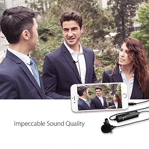 Lavalier Microphone, MAONO AU100 Hands Free Clip-on Lapel Mic with Omnidirectional Condenser for Podcast, Recording, DSLR,Camera,iPhone,Android,Samsung,Sony,PC,Laptop (236 in) by MAONO (Image #3)