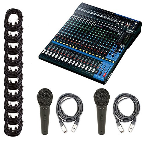 Used, Yamaha MG20XU 20-Input 6 Bus USB Mixer w/ 10 XLR Cables for sale  Delivered anywhere in USA