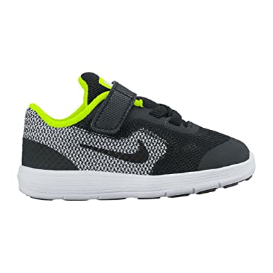 ce8b8c7e07 Amazon.com | Nike Kids' Revolution 3 (TDV) Running Shoe Black/White/Volt, 7  M US Toddler | Athletic