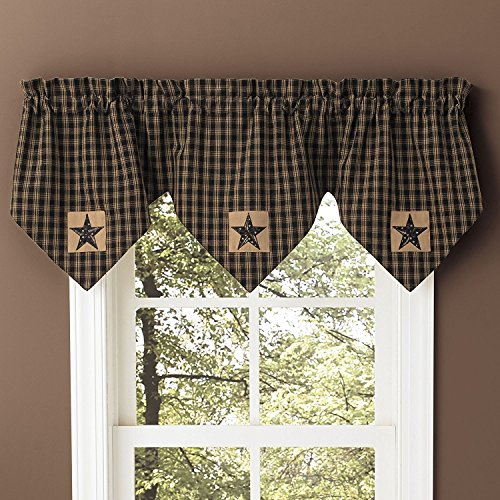 Sturbridge Patch Black Triple Point Valance