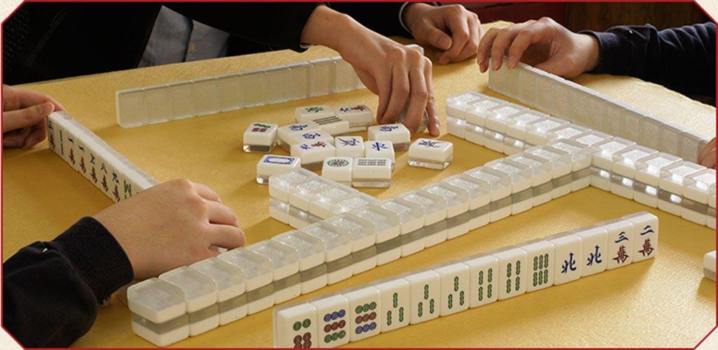 LI JING SHOP - Crystal Mahjong, Silber und Gold Gold Gold Home Mahjong Karte, große Hand Reiben Mahjong Holzkiste, Größe: 3.9  3.0  2.3CM ( Farbe : 002 , größe : 3.93.02.3CM ) 652269