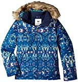 Roxy Big Girls' American Pie Snow Jacket, Sodalite Blue_Haveli Ikat, 8/Small