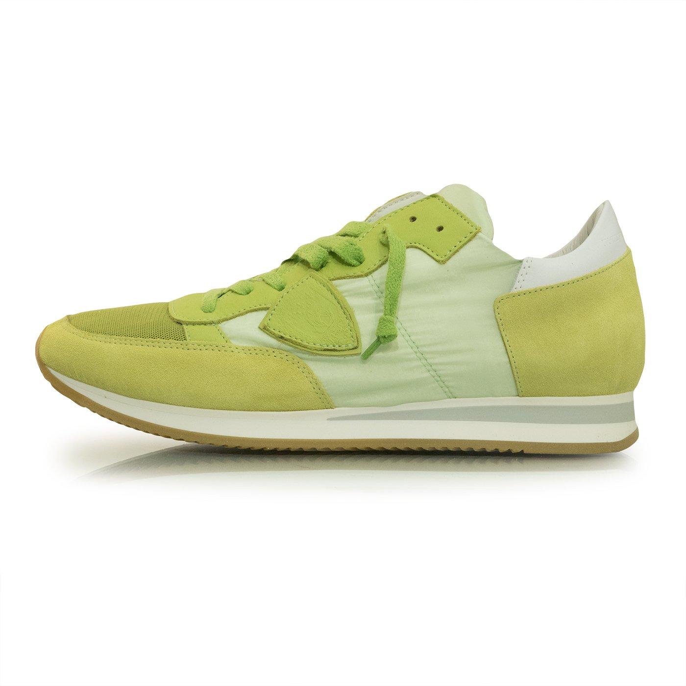 Philippe Model Zapatillas de Piel Para Hombre Verde Lima 44 EU