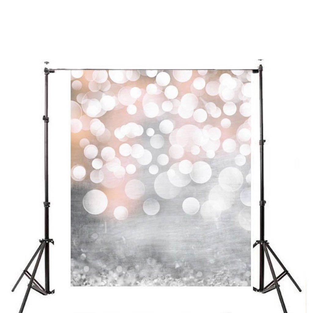 DODOING 3x5ft Hazy Bubble Vinyl Photography Backdrop Customized Newborn Baby Birthday Photo Background Studio Prop Light Glitter Bokeh