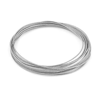 Sourcingmap a13092700ux1063 - Cable de alambre de acero inoxidable 7x7 molinillo de diámetro 1.2mm 5.2m largo y flexible