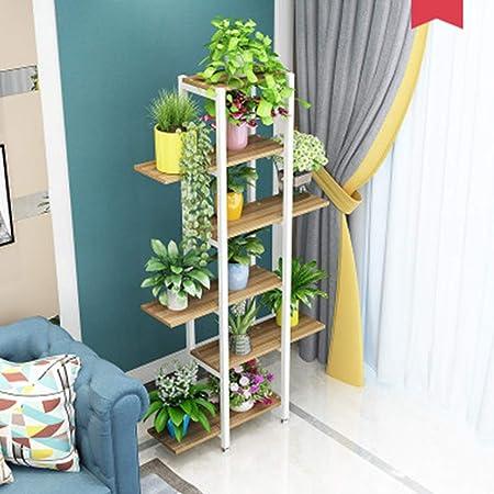 Soporte De Flores Estante Estantería Escalera Estantería Decorativas De Plantas Flores Para Decoración Exterior Interior Jardín Expositor Madera,E: Amazon.es: Hogar