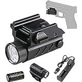 Aimkon Hilight P10S pistolet 500 LM DEL Strobe lampe de poche avec Weaver Quick Rel