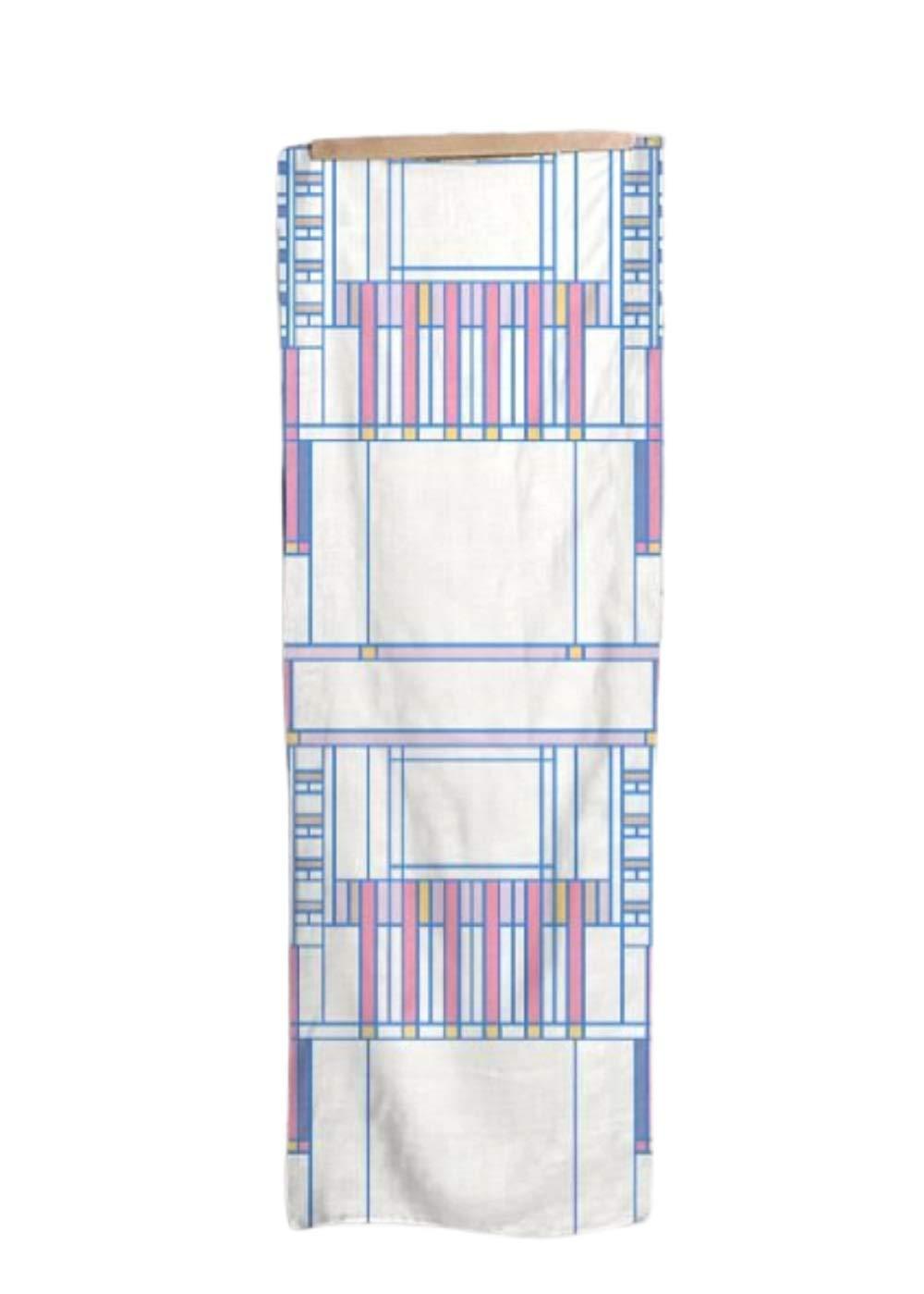 VIDA   Brights on White Modal Scarf (1955 Textile Design - 107)   Original Artwork Designed by Frank Lloyd Wright by VIDA