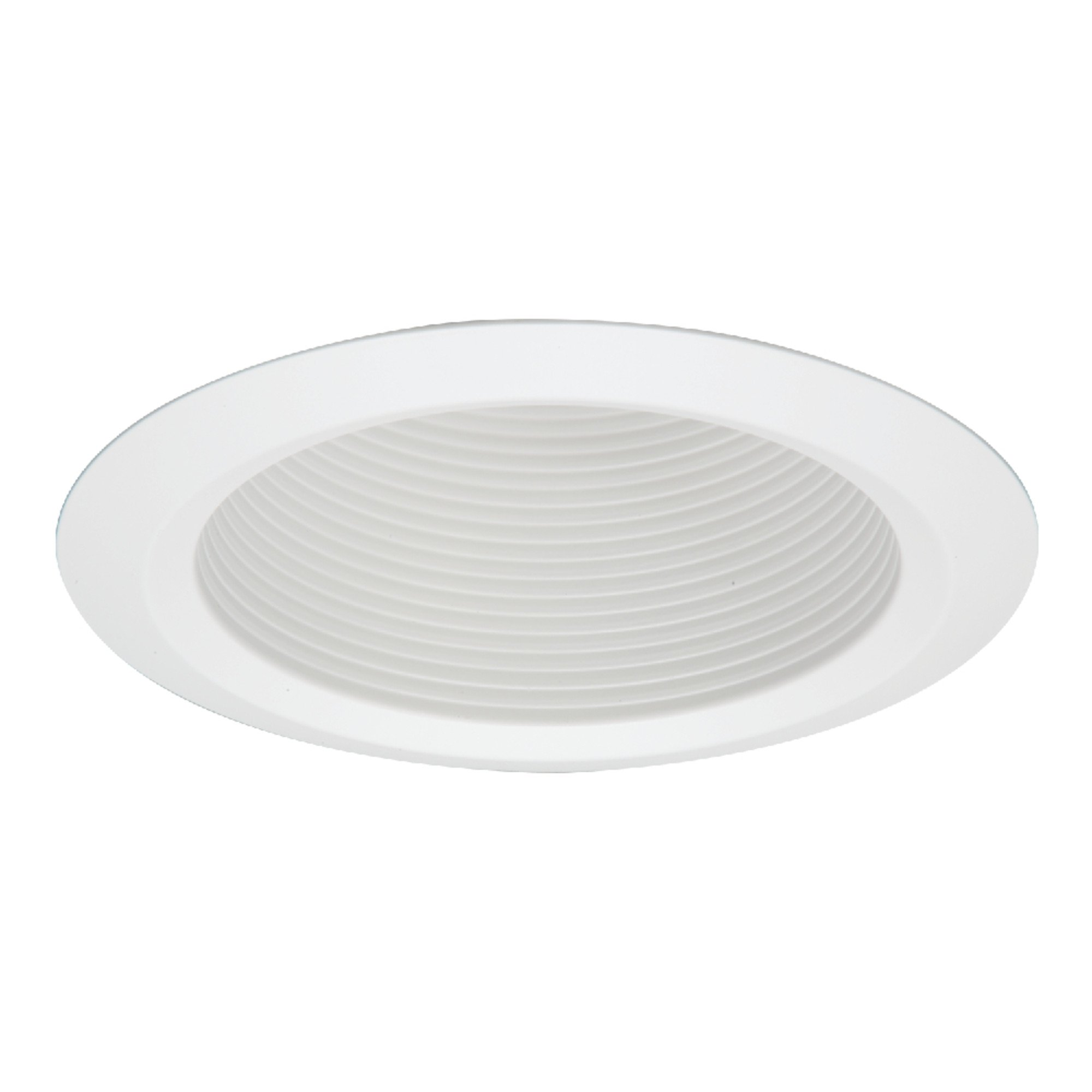 Halo 5125WB Recessed Self-Flanged White Trim with Full Cone White Baffle, 5''
