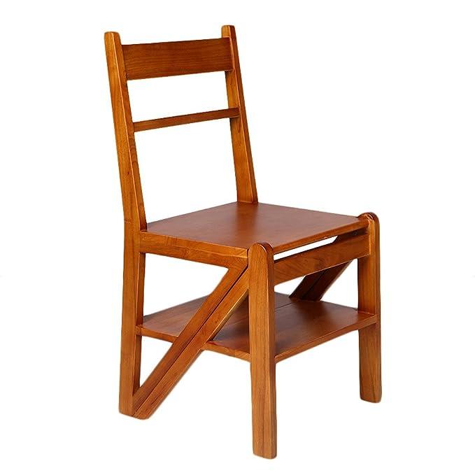 LIU UK Folding Chair Escalera de la Silla del Roble Silla de ...
