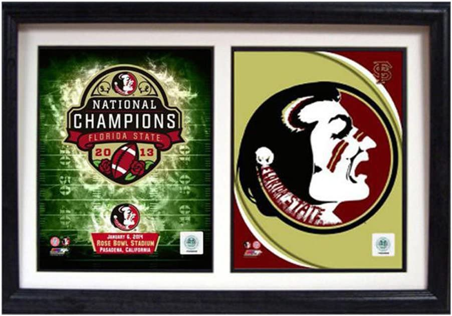 12-Inch by 18-Inch Encore Select 124-49 NCAA Florida State Seminoles Framed 2013 Champions Photo Set