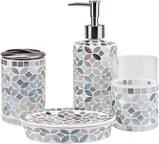 Brand new hand Made Glass mosaic bathroom tooth brush holder