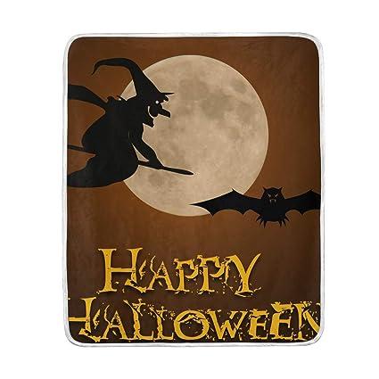 5ba35bb1f971 Amazon.com: Lilibeely Ultra Soft Microplush Velvet Happy Halloween ...