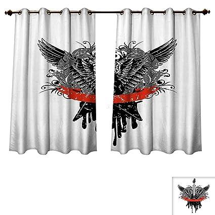 Amazon Com Rupperttextile Rock Music Blackout Curtains Panels For