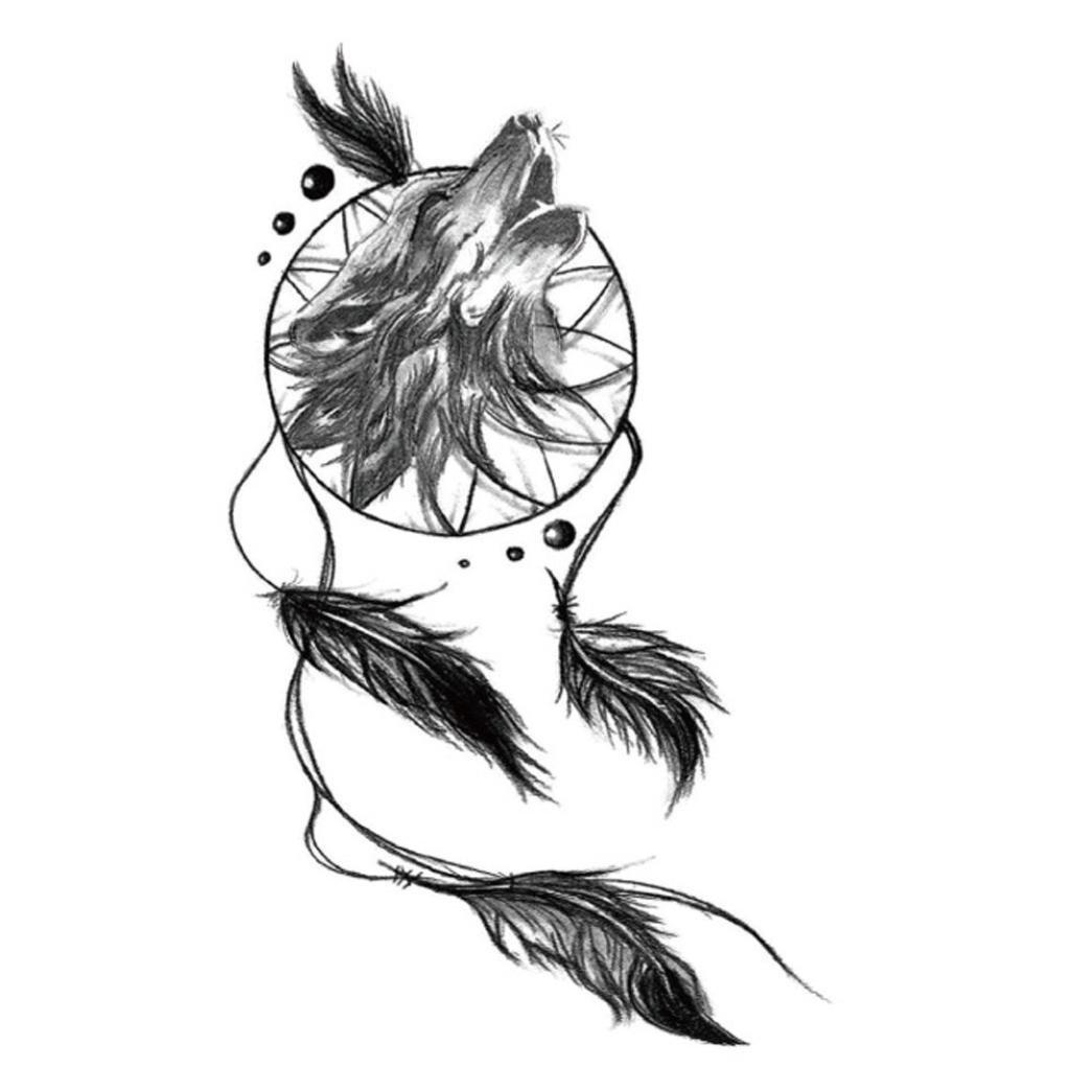 anshinto Temporary Tatuajes Cuerpo art Fake Atrapasueños Tatuaje ...